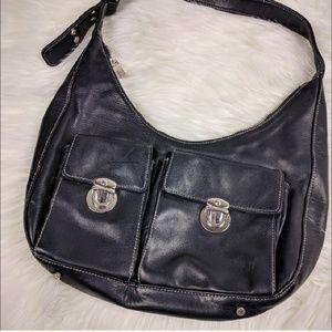 Perlina Leather Shoulder Hobo Bag Kid Glove